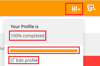 profile setting