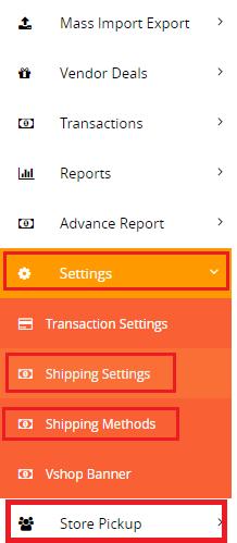 Shipping Setting